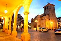 Church of San Juan in the Main square of Zamora, Spain.
