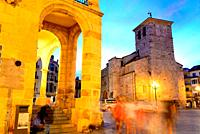 Church of San Juan in the Main square of Zamora, Spain