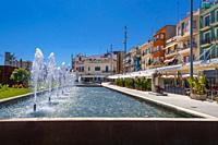 Moll de Pescadors, El Serrallo, Tarragona, Catalonia, Spain. Nearby the port of Tarragona, EL Serrallo features some of the Tarragona's freshest and b...