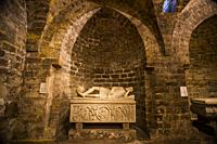 Sarcophagus of Frederick of Antioch. Palermo Cathedral crypt. Palermo, Sicily, Italy, Europe.
