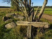 Poland. Podlasie region.Eastern Poland. Old cross