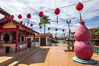 Chinese temple, Kampung Musi, Bau, Sarawak, East Malaysia