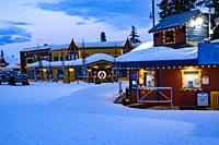 the Village at Silver Star ski resort near Vernon, BC, Canada.