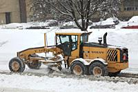 Snowplow, snow removal, Montreal, Canada,.