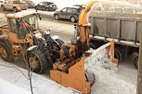 Snow removal, winter, Montreal, Canada,.