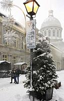 Cananda, Montreal, snowfall, snow, winter, Bonsecours Market,.