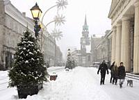 Cananda, Montreal, snowfall, Notre-Dame-de-Bon-Secours chapel, Old Montreal,.