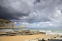Landscape of Langre Beach; Santander; Cantabria; Spain.
