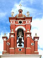 Colonial Church Bell Tower. Oaxaca. Mexico.
