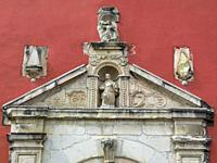 Portico. Santa Catalina Colonial Church. Oaxaca. Mexico.