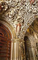 Ceiling. Monastery of Sto. Domingo de Guzmán. Oaxaca. Mexico. The Church and former monastery of Santo Domingo de Guzmán is the most important of the ...