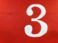 the number three 3