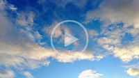 Sky with clouds at sunset in a time lapse view. Navarre, Spain.