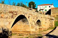 Medieval bridge in Fariza de Sayago, Zamora, Spain