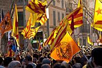 Spain. 25/03/2012. Palma,Mallorca. 50. 000 personas se manifiestan a favor de la lengua Catalana en las islas Baleares.