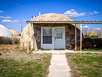 A dome home located at the Monolithic Dome Institute in Italy, Texas.