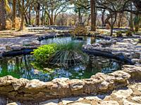 Series of ponds in park in Austin, TX.