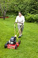 Lawn mowing.
