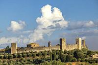 Old Town Monteriggioni, Tuscany, Italy.