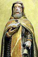 Bernard de Clairvaux. Statue. Church of Notre-Dame de la Gorge. Les Contamines-Montjoie. Haute-Savoie. Auvergne Rhône-Alpes. France. Europe.