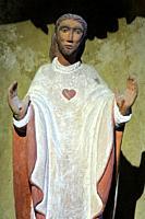 Jesus Christ. Wooden statue. Church of Notre-Dame de la Gorge. Les Contamines-Montjoie. Haute-Savoie. Auvergne Rhône-Alpes. France. Europe.