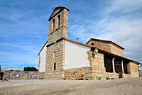 Church of San Pedro Apostol in Sieteiglesias, Lozoyuela-Las Navas, Sieteiglesias, Madrid, Spain.