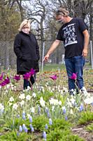 Detroit, Michigan - People have been getting a preview of the new 2. 6-acre, $4. 2 million public garden designed by prominent Dutch garden designer, ...