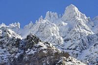 France, Corsica, Haute-Corse, Vizzavona heights in winter.