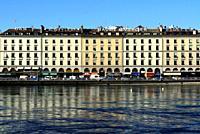 Quai des Bergues, Rhone river, city center, Geneva, Switzerland, Europe