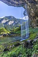 Goriuda waterfall (Fontanon di Goriuda), Province of Udine, Italy.