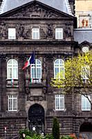 Former building of Prefecture near Place de Jaude, historic part of Clermont-Ferrand, Puy-de-Dôme, Auvergne, Auvergne-Rhône-Alpes, France, Europe