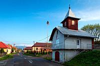 Fire station in Velky Cepcin village, Turiec region, Slovakia.