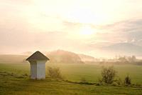 Wayside shrine at the village of Abramova, Slovakia.