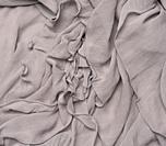 folded gray silk fabric, full frame, blouse linen.