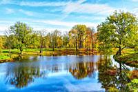 Tranquil Autumn landscape.