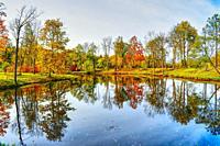 Calm and colorful Autumn landscape.