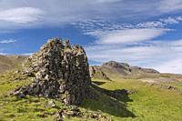 Rock formations at Þvottá / Thvotta in summer, Djúpivogur, Austurland in eastern Iceland