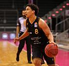 Bonn, Germany, 05.05.2021, Telekom Dome, Basketball Bundesliga, Telekom Baskets Bonn vs Loewen Braunschweig: James Robinson III (Braunschweig) control...