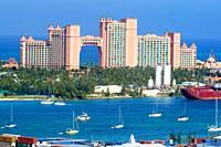 Atlantis Paridise Resort at Nassau in the Grand Bahama Islands.