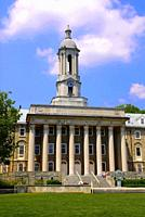 Old Main Building on the campus of Penn Pennsylvania State University at State College or University Park Pennsylvania PA.