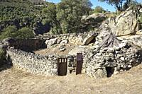 """Corral of goats and chivitero. Ethnographic Museum """""""" La Majada del Rostro """""""". Shepherd's sheepfold where a goat herder and his family lived between 1..."""