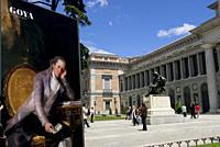 Goya Exhibition poster, Prado Museum, Madrid, Spain, Europe.