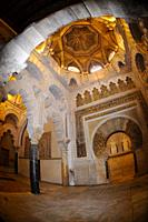 "Ornate interior decoration, Mosqueâ. ""Cathedral of Córdoba, Córdoba, Andalucia, Spain, Europe."