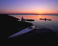 Canoeing in Misterhult Småland Sweden Sverige.