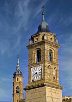 Mudejar Towers. Ateca (Zaragoza) Spain. . The development in the 12th century of Mudejar art in Aragon resulted from the particular political, social ...