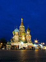 St. Basil's Cathedral. The Red Square. Moscow. Russia.