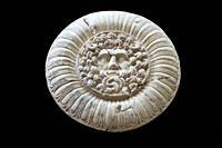 Jupiter Ammon Clypeus medallion from Emerita Roman Provincial Forum of Merida. MNAR Merida, Spain.