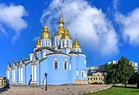 St. Michaels Golden-Domed Monastery in Kyiv, Ukraine, on a sunny summer morning.