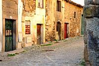 Rustic street in Bemposta, Mogadouro, Portugal