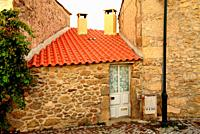 Small house fit between buildings, Bemposta, Mogadouro, Portugal